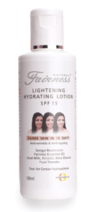 Natural Fairness Skin Lightening Hydrating Lotion - SPF 15